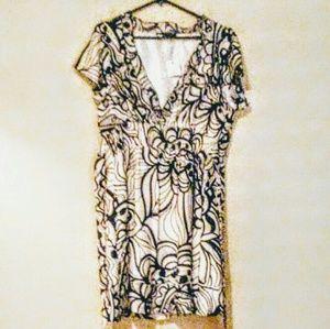 BCBG Maxazria  White and Black Silk Dress NWT $248